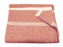 deken/ picknickdeken light van katoen donker rood