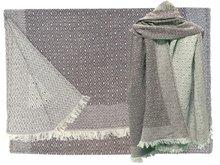 sjaal wol/katoen diamond reversible liver grey
