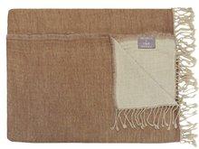 deken reversible wol medium brown/pale beige