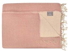 deken reversible wol -powder pink/ off white