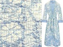 kimono quilted katoen -pastel grey/blue