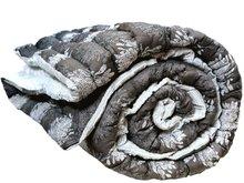 quilt deken dik reversible tweepersoons -donker grijs/wit