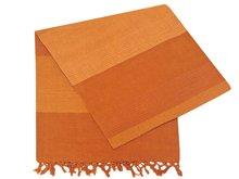 grand foulard katoen -caramel 2-tone