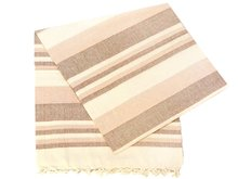 grand foulard katoen -apricot/brown/offwhite