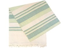 grand foulard katoen -light green/green/off white stripe